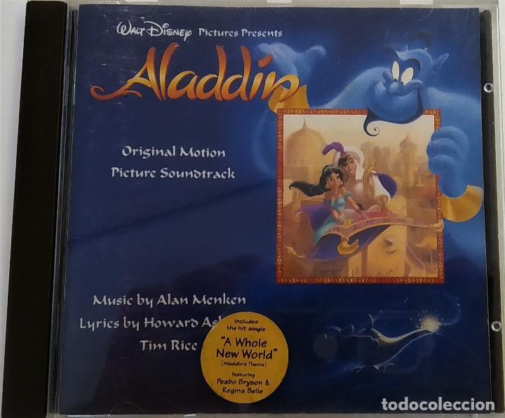 CD ALADDIN (BSO), ALAN MENKEN, HOWARD ASHMAN, TIM RICE, UK 1992,PICKWICK RECORDS–DSTCD 470 (EX_EX) (Música - CD's Bandas Sonoras)