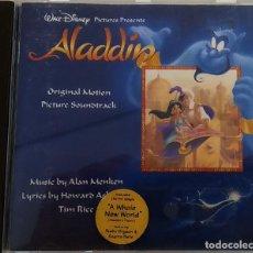 CDs de Música: CD ALADDIN (BSO), ALAN MENKEN, HOWARD ASHMAN, TIM RICE, UK 1992,PICKWICK RECORDS–DSTCD 470 (EX_EX) . Lote 183815160