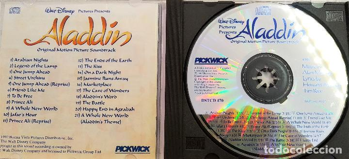 CDs de Música: CD ALADDIN (BSO), Alan Menken, Howard Ashman, Tim Rice, UK 1992,Pickwick Records–DSTCD 470 (EX_EX) - Foto 3 - 183815160