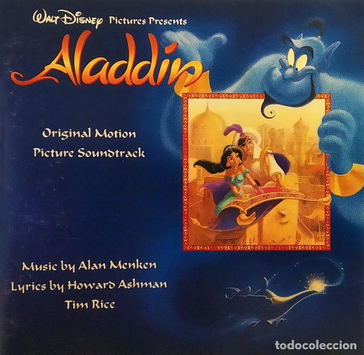 CDs de Música: CD ALADDIN (BSO), Alan Menken, Howard Ashman, Tim Rice, UK 1992,Pickwick Records–DSTCD 470 (EX_EX) - Foto 5 - 183815160