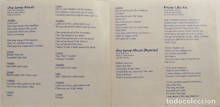 CDs de Música: CD ALADDIN (BSO), Alan Menken, Howard Ashman, Tim Rice, UK 1992,Pickwick Records–DSTCD 470 (EX_EX) - Foto 6 - 183815160
