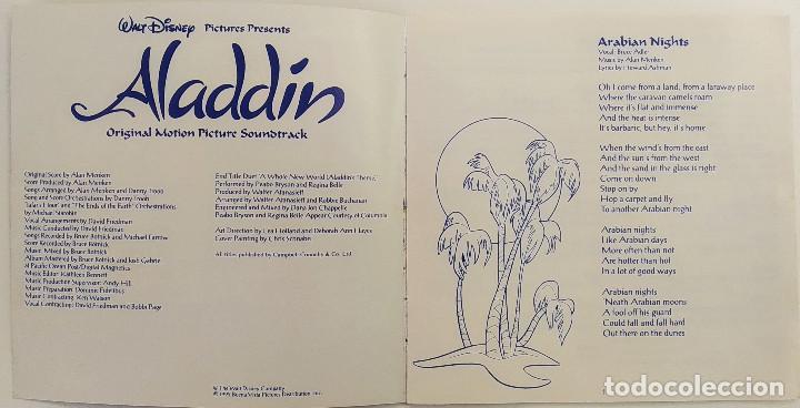 CDs de Música: CD ALADDIN (BSO), Alan Menken, Howard Ashman, Tim Rice, UK 1992,Pickwick Records–DSTCD 470 (EX_EX) - Foto 7 - 183815160