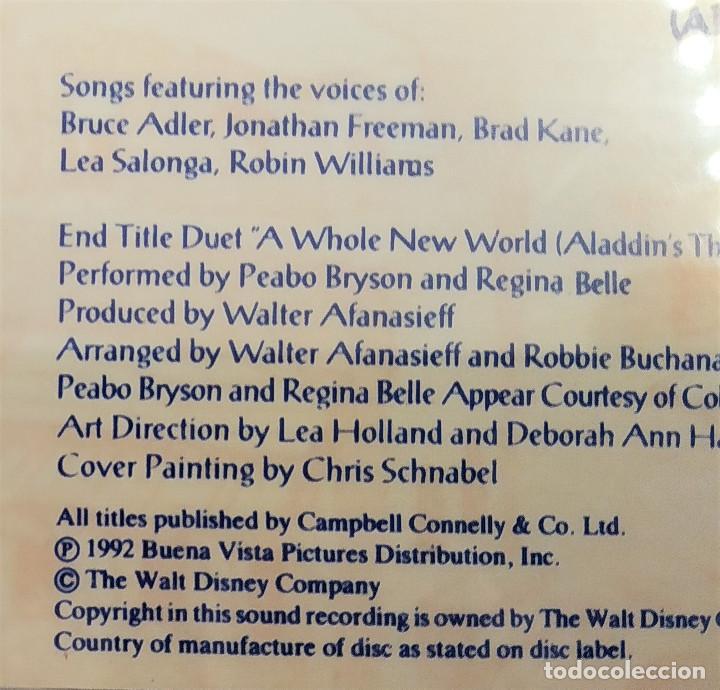 CDs de Música: CD ALADDIN (BSO), Alan Menken, Howard Ashman, Tim Rice, UK 1992,Pickwick Records–DSTCD 470 (EX_EX) - Foto 11 - 183815160