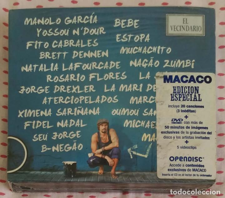 MACACO (EL VECINDARIO) 2 CD'S + DVD 2010 - MANOLO GARCIA, ESTOPA, FITO, NATALIA LAFOURCADE... (Música - CD's Reggae)