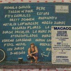 CDs de Música: MACACO (EL VECINDARIO) 2 CD'S + DVD 2010 - MANOLO GARCIA, ESTOPA, FITO, NATALIA LAFOURCADE.... Lote 183816596
