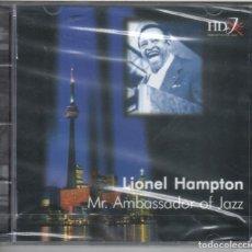 CDs de Música: LIONEL HAMPTON: MR. AMBASSADOR OF JAZZ NUEVO PRECINTADO. Lote 183826215