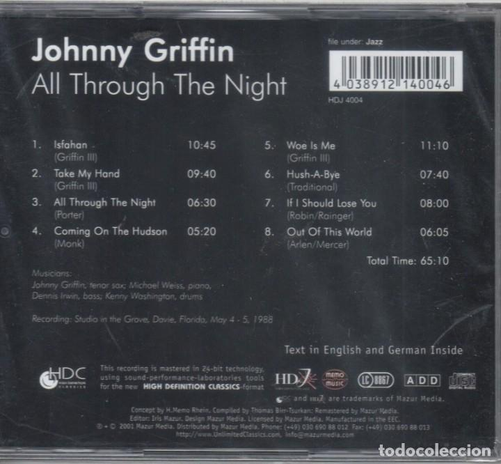 CDs de Música: Johnny Griffin: All Through the Night. Nuevo precintado - Foto 2 - 183826650