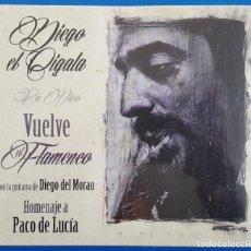 CDs de Música: CD / DIEGO EL CIGALA / VUELVE EL FLAMENCO (EN VIVO)HOMENAJE A PACO DE LUCIA, 2014 NUEVO Y PRECINTADO. Lote 183839870