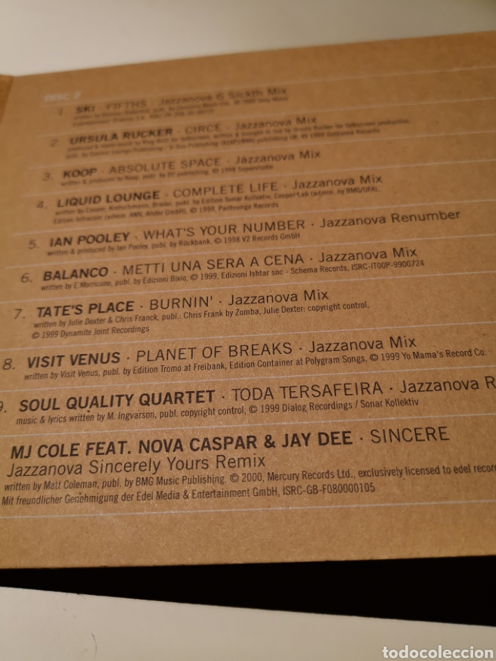 CDs de Música: JAZZANOVA 2CD THE REMIXES 1997-2000 - Foto 4 - 183865121