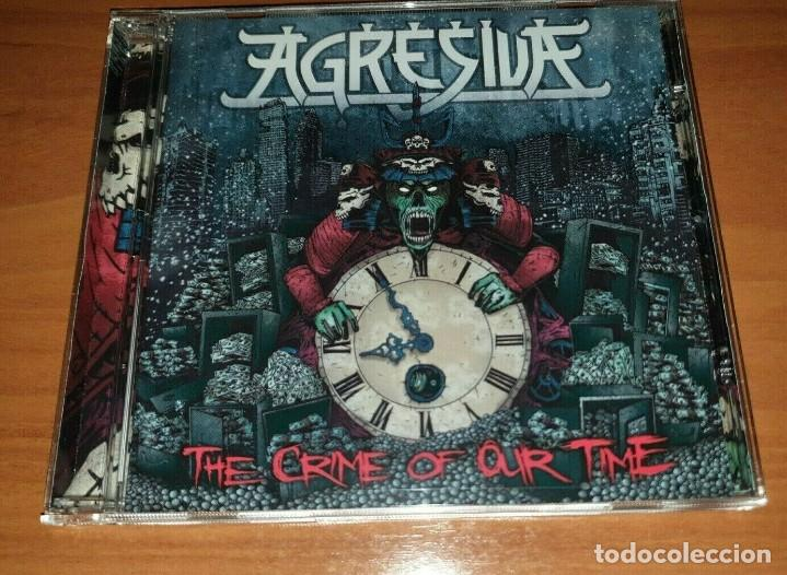 AGRESIVA – THE CRIME OF OUR TIME SPANISH THRASH METAL -MURO-METALLICA-FUCK OFF (Música - CD's Heavy Metal)