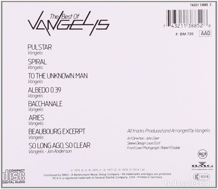 CDs de Música: THE BEST OF VANGELIS * CD * PRECINTADO - Foto 2 - 183870033