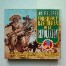 CDs de Música: LOS MEJORES CORRIDOS Y RANCHERAS DE LA REVOLUCION - 2 CDS, DIRESA, 1999. EU.. Lote 183925588