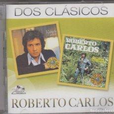 CDs de Musique: ROBERTO CARLOS DOBLE CD DOS CLÁSICOS FE / UN GATO EN LA OSCURIDAD 2012. Lote 183931325