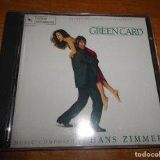 CDs de Música: GREEN CARD MATRIMONIO DE CONVENIENCIA BANDA SONORA CD 1991 USA VARESE SARABANDE HANS ZIMMER 13 TEMAS. Lote 183938222