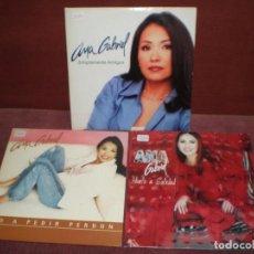 CDs de Música: LOTE 3 CD SINGLE PROMO ANA GABRIEL / SIMPLEMENTE AMIGOS , NO A PEDIR PERDON, HUELO A SOLEDAD CARTON. Lote 183958762