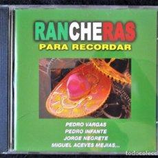 CDs de Música: RANCHERAS - JORGE NEGRETE, PEDRO INFANTE, PEDRO VARGAS, MIGUEL ACEVES MEJÍAS, ANA MARIA GONZALEZ CD. Lote 183965198