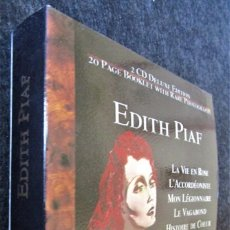 CDs de Música: EDITH PIAF - 20 PAGE BOOKLET WITH RARE PHOTOGRAPHS - 2 CD . Lote 183965210