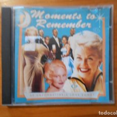 CDs de Música: CD MOMENTS TO REMEMBER (DW). Lote 183994038