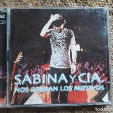 CDs de Música: SABINA Y CIA. , NOS SOBRAN LOS MOTIVOS 2XCD , PERFECTO ESTADO . Lote 184010862