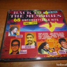 CDs de Música: BACK TO THE MEMORIES 1962-1979 4 CD 1991 BILLY OCEAN KENNY ROGERS ARETHA FRANKLIN BOB MARLEY BOX SET. Lote 184044305