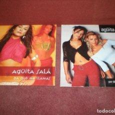 CDs de Música: LOTE 2 CD SINGLE PROMO AGUITA SALA / PA QUE ME LLAMAS Y POR DEBAJO DE TU CINTURA - CARTON. Lote 184050197