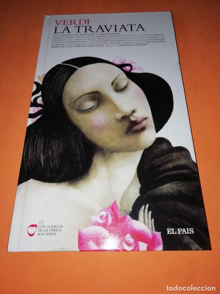 VERDI . LA TRAVIATA DOS CD ´S MÁS LIBRO . LOS CLÁSICOS DE LA ÓPERA ED EL PAÍS .MARIA CALLAS (Música - CD's Clásica, Ópera, Zarzuela y Marchas)
