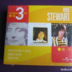 CDs de Música: ROD STEWART - CAJA CON 3 CDS CLASICOS - SWEET LITTLE ROCK N ROLLER - REASON TO BELIEVE - CLASSIC YER. Lote 184101833