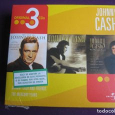 CDs de Música: JOHNNY CASH CAJA CON 3 CDS PRECINTADA - BEST OF - AND FRIENDS - MERCURY YEARS - COUNTRY ROCK CLASICO. Lote 184102047