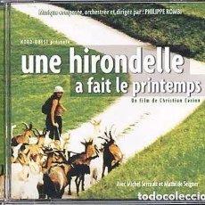 CDs de Música: UNE HIRONDELLE A FAIT LE PRINTEMPS / PHILIPPE ROMBI CD BSO. Lote 184148966