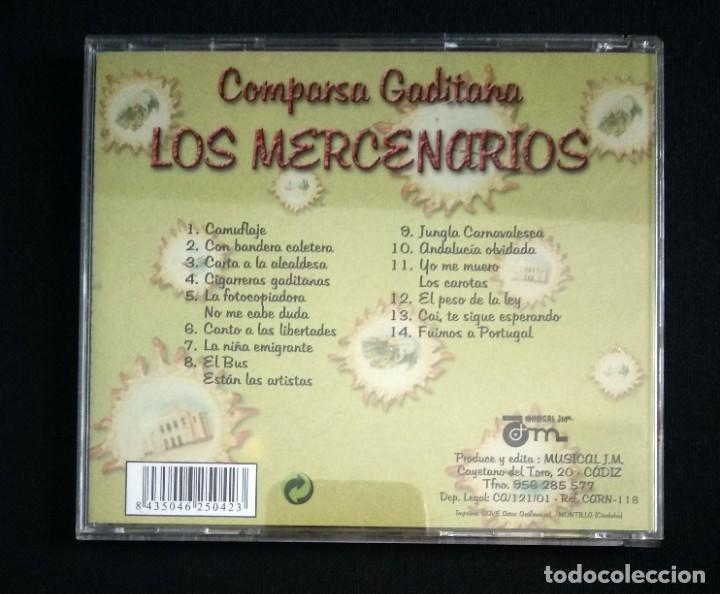 CDs de Música: CD comparsa LOS MERCENARIOS 2001 carnaval Cádiz - Foto 2 - 184186193
