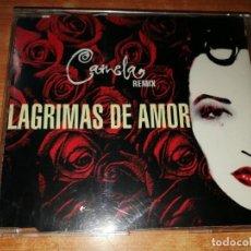 CDs de Música: CAMELA LAGRIMAS DE AMOR REMIXES CD SINGLE CON LA PORTADA DE PLASTICO DEL AÑO 1996 3 TEMAS. Lote 184211445