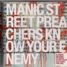 CDs de Música: MANIC STREET PREACHERS ROCK - KNOW YOUR ENEMY - INCLUDING THE SINGLE SO WHY SO SAD..... Lote 184264373