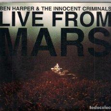 CDs de Música: BEN HARPER & INNOCENT CRIMINALS - LIVE FROM MARS - 2 CDS. Lote 184265251