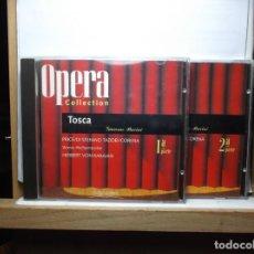 CDs de Música: LOTE DE DOS CD OPERA COLLECCTION TOSCA DE PUCCINI. Lote 184337076
