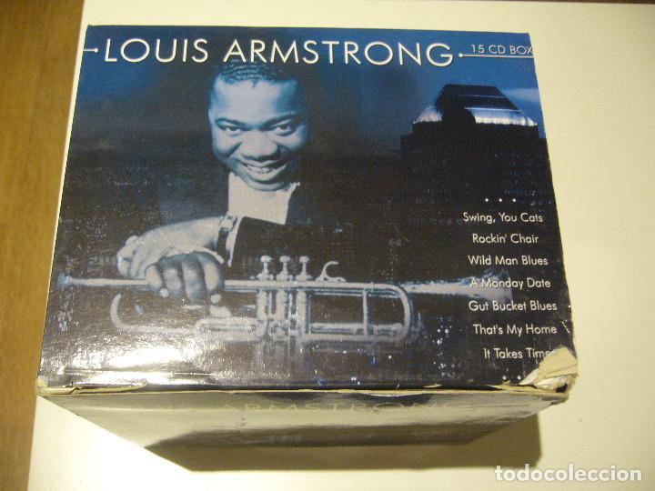 CAJA BOX 15 CDS LOUIS ARMSTRONG (Música - CD's Jazz, Blues, Soul y Gospel)