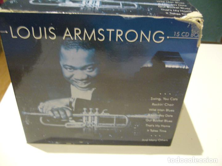 CDs de Música: CAJA BOX 15 CDS LOUIS ARMSTRONG - Foto 2 - 184344653