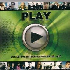 CDs de Música: PLAY - LOS ÉXITOS INTERNACIONALES DEL AÑO - 2 CD'S. Lote 184372631