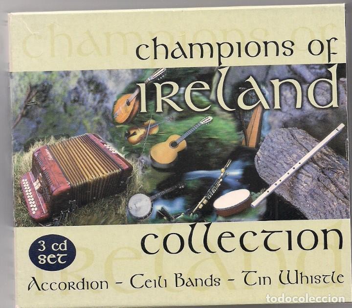 CHAMPIONS OF IRELAND COLLECTION - 3 CD'S EN CAJAS INDIVIDUALES Y FUNDA DE CARTÓN (Música - CD's World Music)