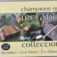 CDs de Música: CHAMPIONS OF IRELAND COLLECTION - 3 CD'S EN CAJAS INDIVIDUALES Y FUNDA DE CARTÓN. Lote 184380305