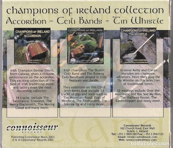 CDs de Música: Champions of Ireland Collection - 3 CDs en Cajas individuales y funda de Cartón - Foto 2 - 184380305