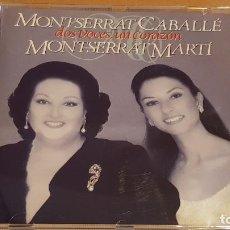 CDs de Música: MONTSERRAT CABALLÉ / MONTSERRAT MARTÍ. DOS VOCES, UN CORAZÓN. CD / RCA-1995.17 TEMAS. CALIDAD LUJO.. Lote 184458393