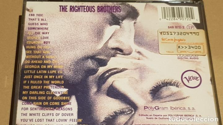 CDs de Música: THE RIGHTEOUS BROTHERS / MELODIA DESENCADENADA / DOBLE CD-BOX - VERVE / 25 TEMAS / LUJO - Foto 4 - 184555737