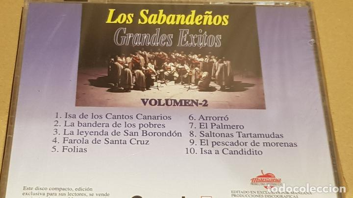 CDs de Música: LOS SABANDEÑOS / GRANDES ÉXITOS / VOLUMEN 2 / CD - MANZANA / 10 TEMAS / PRECINTADO. - Foto 2 - 184556631