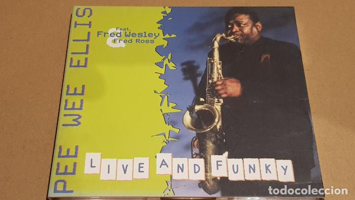 PEE WEE ELLIS / LIVE AND FUNKY / DIGIPACK-CD - SKIP RECORDS / 10 TEMAS / LUJO. (Música - CD's Jazz, Blues, Soul y Gospel)