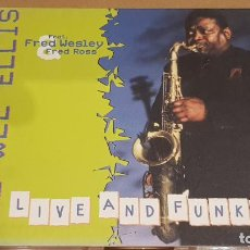 CDs de Música: PEE WEE ELLIS / LIVE AND FUNKY / DIGIPACK-CD - SKIP RECORDS / 10 TEMAS / LUJO.. Lote 184562185