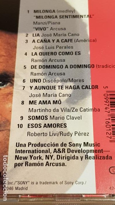 CDs de Música: JULIO IGLESIAS / CALOR / CD - CBS-SONY / 10 TEMAS / CALIDAD LUJO. - Foto 4 - 184562520