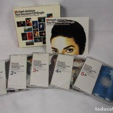 CDs de Música: MICHAEL JACKSON -BOX SET TOUR SOUVENIR PACK CD SINGLE-JAPAN-INCLUYE LIBRETO. Lote 184565871