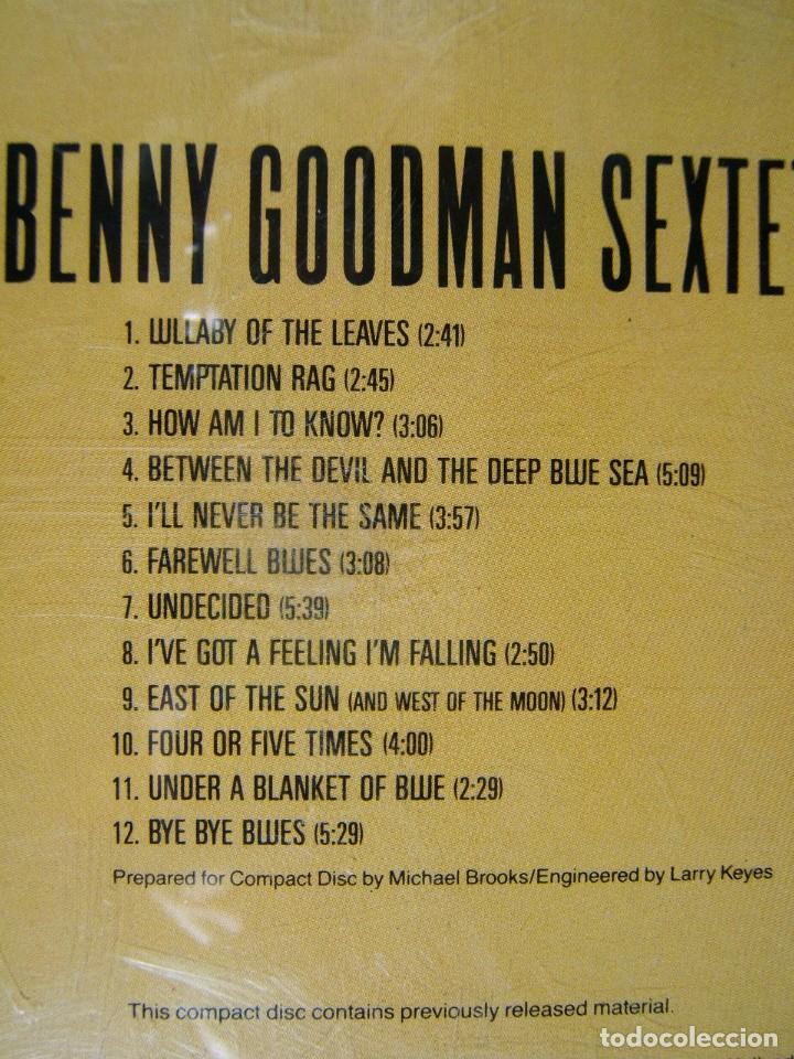 CDs de Música: BENNY GOODMAN SEXTET-PRINTED IN HOLLAND-1987. - Foto 2 - 184595000