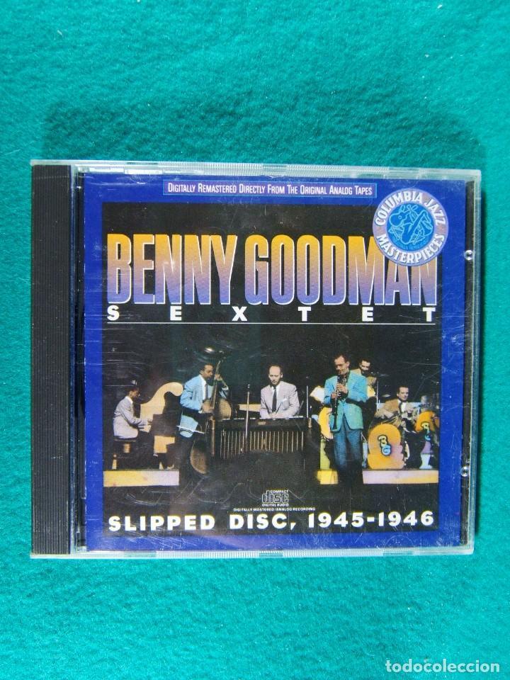BENNY GOODMAN SEXTET-SLIPPED DISC, 1945/1946-PRINTED IN U.S.A.-1988. (Música - CD's Jazz, Blues, Soul y Gospel)