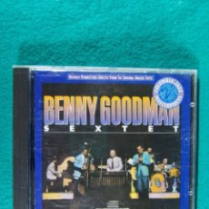 CDs de Música: BENNY GOODMAN SEXTET-SLIPPED DISC, 1945/1946-PRINTED IN U.S.A.-1988.. Lote 184595677